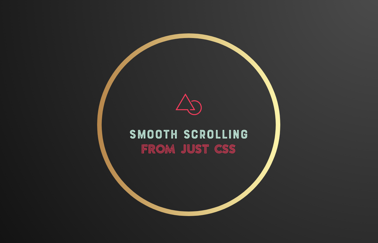 Simple CSS trick to create a smooth scrolling effect